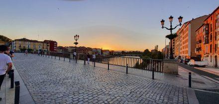 Sunset over Miranda de Ebro