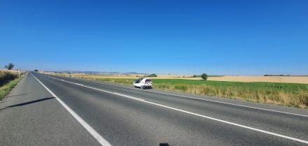 Dozens of km of straight road