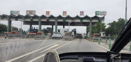 Portuguese motorway toll booth