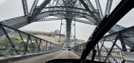 Crossing Porto's bridge