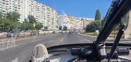 Entering Lisbon's outskirts
