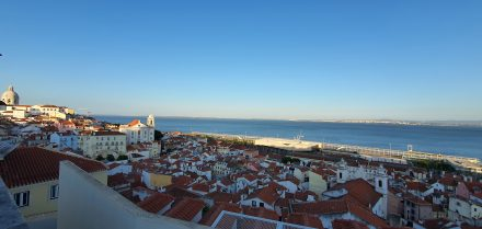View of the river in Lisbon