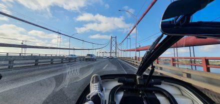 Crossing Lisbon's iconic 25th April Bridge