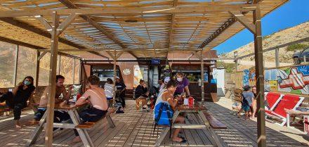 Beach bar - touristy but really relaxing