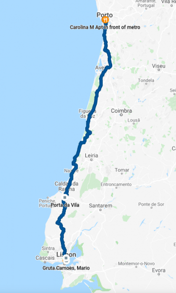 Day 9 GPS track