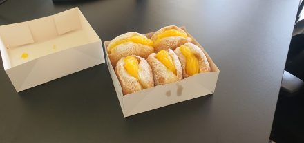 Monday morning at the office...pastries waiting for us...