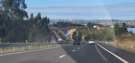 Light traffic out of Lisbon on the motorway