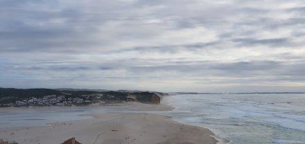 Foz's sandbank and water entering the bay