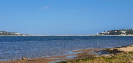 The bay plus the sandbank