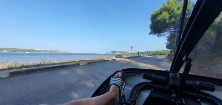 Driving along the bay