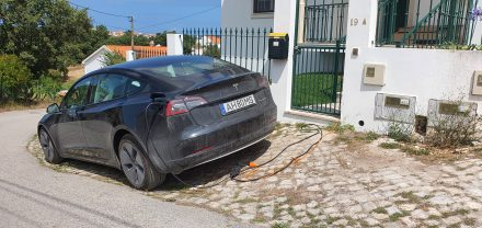 Home charging, typical view in Portugal