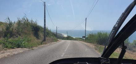 Driving to yet another beach