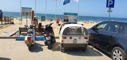 Nazaré Salgado Beach - parking ... no problem