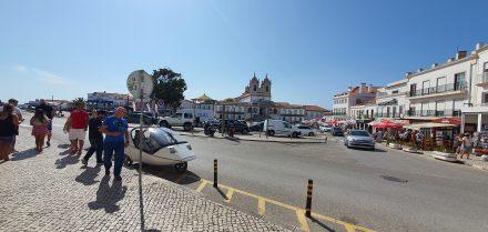 A square above Nazaré