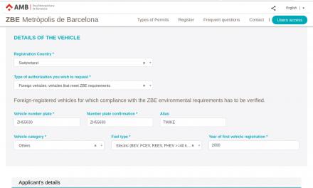 Permit for Barcelona's zero-emission zone