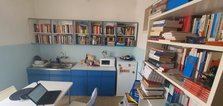 Studious workspace and kitchen