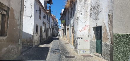 Tiny roads in old towns