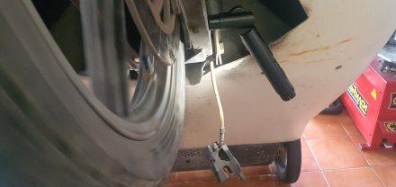 Brake caliper dismantled