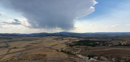 A rare view - rain!