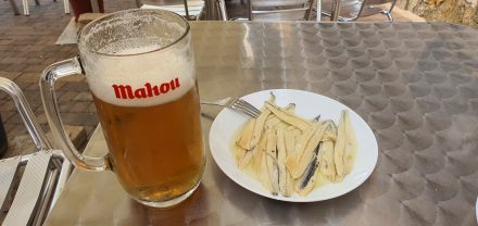 Boquerones and beer - YES