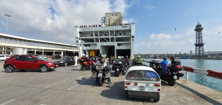 Ready to board the ferry